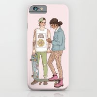 iPhone Cases featuring he was a skater boy she said see ya later boy by vulcains