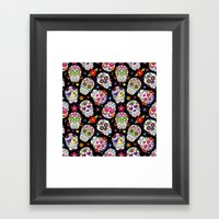 Colorful Sugar Skulls Framed Art Print