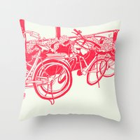 On Paper: Tokyo Bicycles Throw Pillow