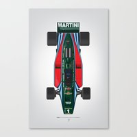 Outline Series N.º2, Mario Andretti, Lotus 80-Ford 1980 Canvas Print