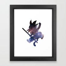 SPACE GOKU Framed Art Print