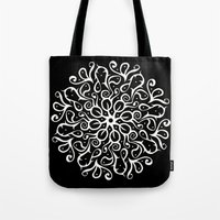 Leaves B&W Tote Bag