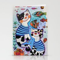 Sea cats Stationery Cards