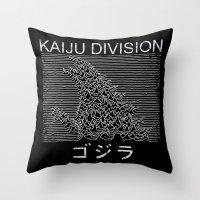 Kaiju Division Throw Pillow