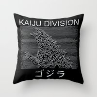 Kaiju Division Throw Pillow