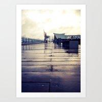 Olympia Waterfront  Art Print