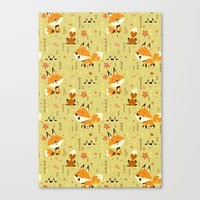 Foxes in the Spring Canvas Print