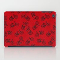 Red Bicycle Pattern iPad Case