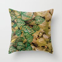 Leaves Evolved 3 Throw Pillow