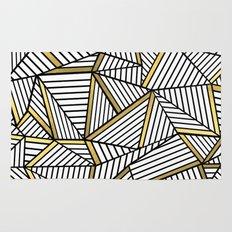 Ab Lines 2 White Gold Rug