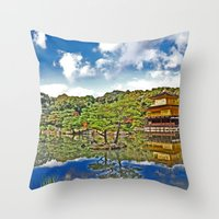 Serenity in Japan Throw Pillow