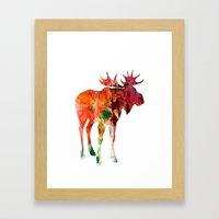 Moose Silhouette (in color) Framed Art Print