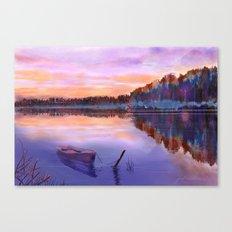 When Evening Falls Canvas Print