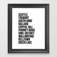 SEATTLE CITIES Framed Art Print