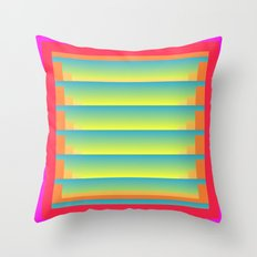 GradientGlitch v.5 Throw Pillow