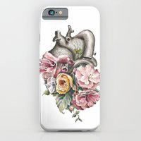 iPhone & iPod Case featuring Floral Anatomy Heart by Trisha Thompson Adams