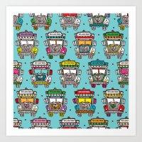 Colorful Tata Truck Of I… Art Print