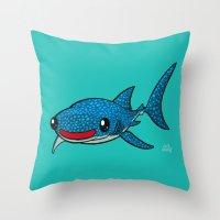 Whale Shark Throw Pillow