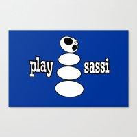 play sassi Canvas Print