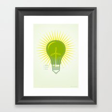 Bright Green Ideas Framed Art Print