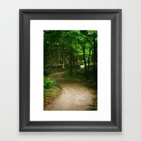 Down A Path Framed Art Print