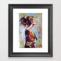 Lena- beautiful woman Framed Art Print