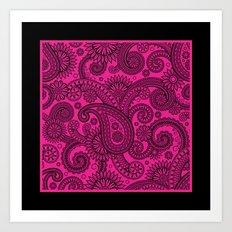 Paisley Pink Art Print