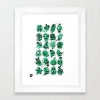 Monsters Heads  Framed Art Print