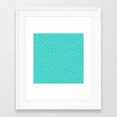 Golden Polka Dots On Tur… Framed Art Print