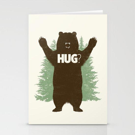 Bear Hug? Stationery Card