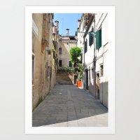 Venetian Courtyard Art Print