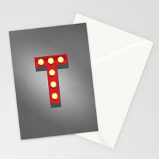 T - Theatre Marquee Letter Stationery Cards