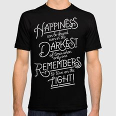 Happiness can be found SMALL Mens Fitted Tee Black