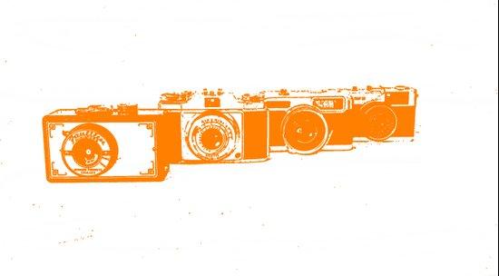 Orange photo Art Print