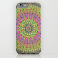 mandala iPhone & iPod Cases featuring Floral ornament mandala  by David Zydd