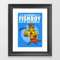 The Uncredible Fish Boy … Framed Art Print