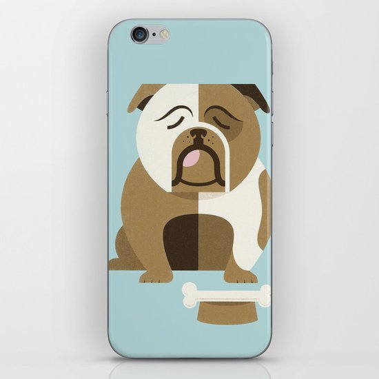 Bulldog - Blue Variant iPhone & iPod Skin