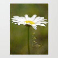 Be Your Own Sunshine Canvas Print