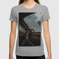 Junkyard Truck. Womens Fitted Tee Athletic Grey SMALL
