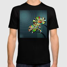 Time Portal SMALL Mens Fitted Tee Black