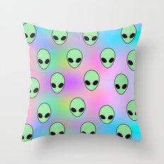 Aliens Tumblr Throw Pillow