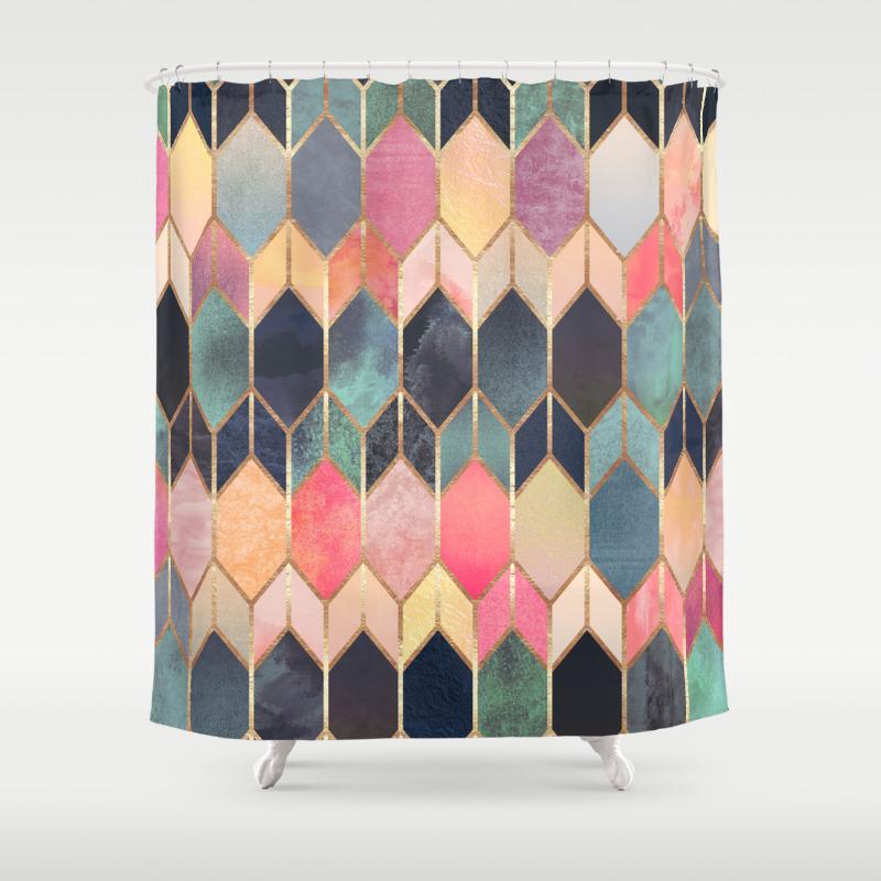 digital shower curtains society6. Black Bedroom Furniture Sets. Home Design Ideas