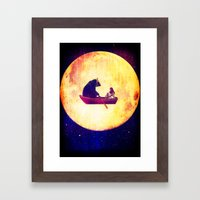 Moon Flight Framed Art Print
