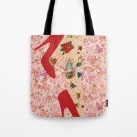 Red Walk Tote Bag