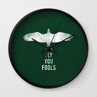 Fly You Fools Wall Clock
