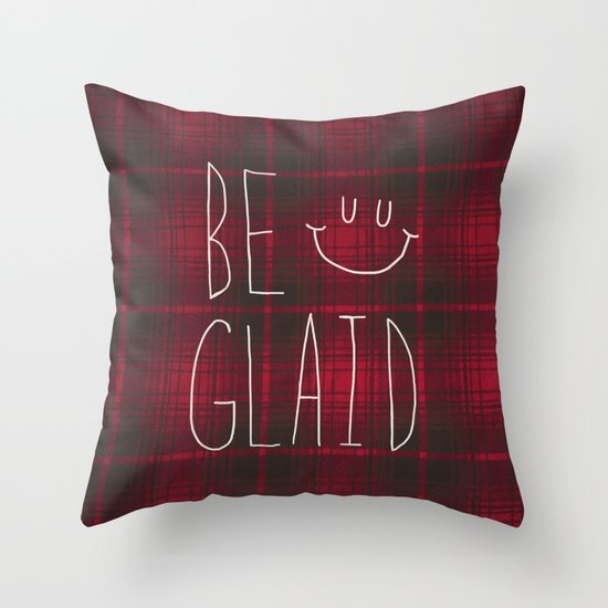So Plaid Throw Pillow