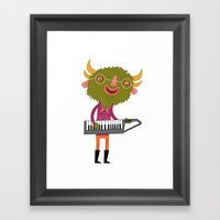 Green Keytar Master Framed Art Print