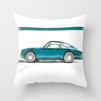 Porsche 911 / V Throw Pillow