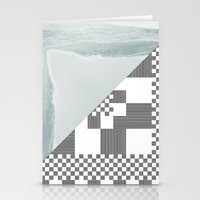 Waves/grid #8 Stationery Cards
