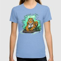 Tiger Womens Fitted Tee Tri-Blue SMALL